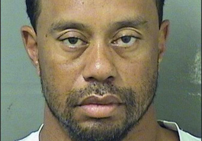 Imagen del archivo policial tras la detención de Tiger Woods.