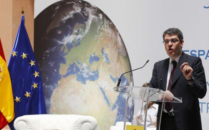 El ministro de Energía, Álvaro Nadal, durante su intervención en la...