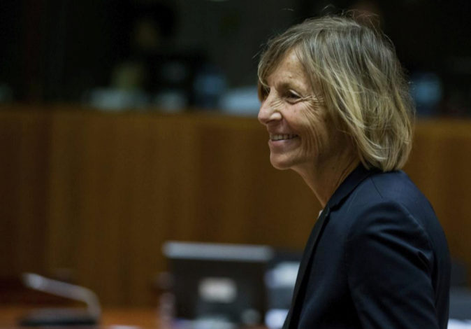 La ministra de Asuntos Europeos de Francia, Marielle de Sarnez, en una...