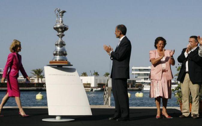 Imagen de archivo de la celebración de la Copa América de vela y...