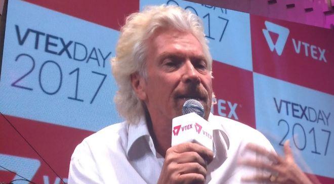 Richard Branson, fundador de Virgin Group, este martes en Vtex Day...