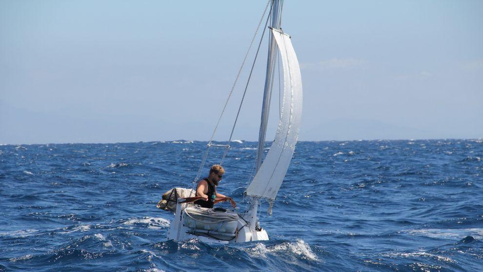 Matt Kent, durante una prueba de navegación.
