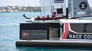 El AC50 del equipo francés pasa cerca del aviso de aplazamiento del...