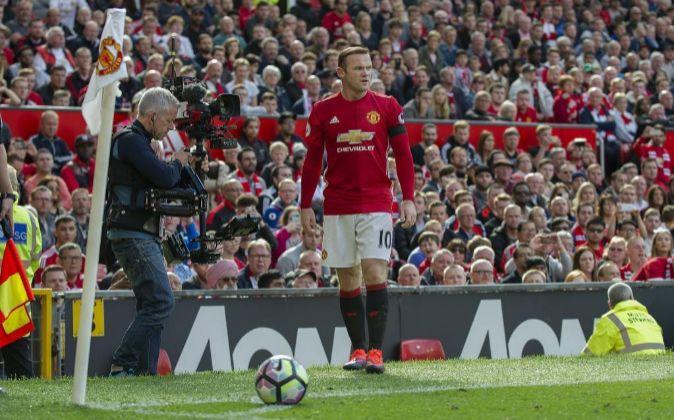 Wayne Rooney, jugador del Manchester United.