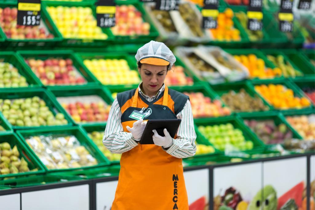 Frutería en un supermercado Mercadona.