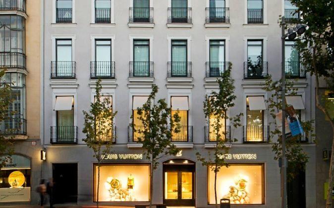 El edificio ubicado en la exclusiva calle Serrano 66 de Madrid,...