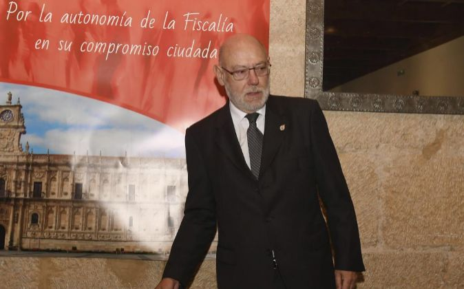 El fiscal general del Estado, José Manuel Maza, durante la apertura...