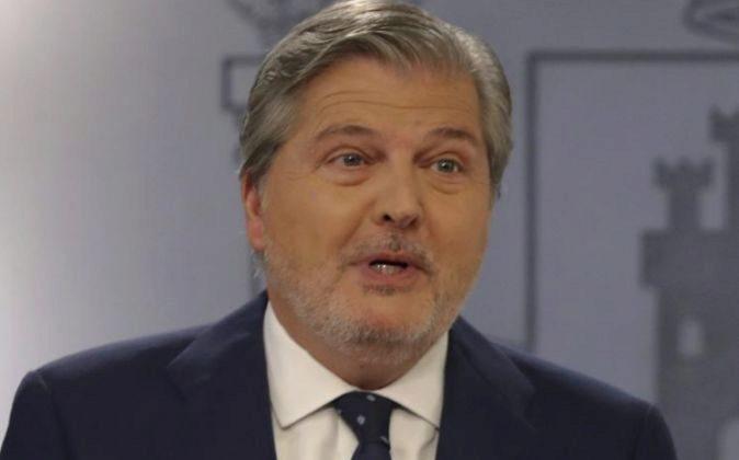 El portavoz del Ejecutivo, Íñigo Méndez de Vigo, durante la rueda...