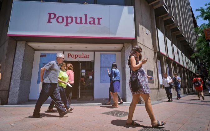 Sucursal del Banco Popular en Madrid.