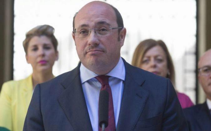 Fotografía de archivo, del pasado 4 abril, del expresidente de Murcia...