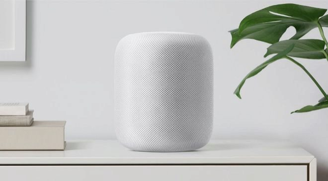 Altavoz inteligente HomePod de Apple.