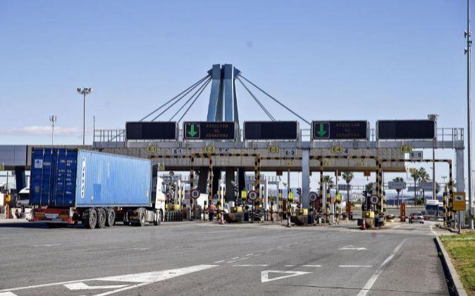 Imagen del puerto de Valencia en la primera de las tres jornadas de...