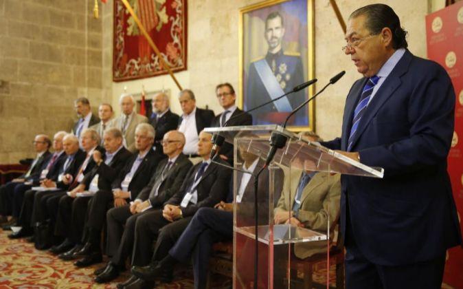 El vicepresidente de la Fundación Premios Jaime I, Vicente Boluda...