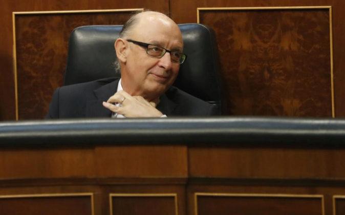 El ministro de Hacienda, Cristóbal Montoro, el pasado lunes 29 de...