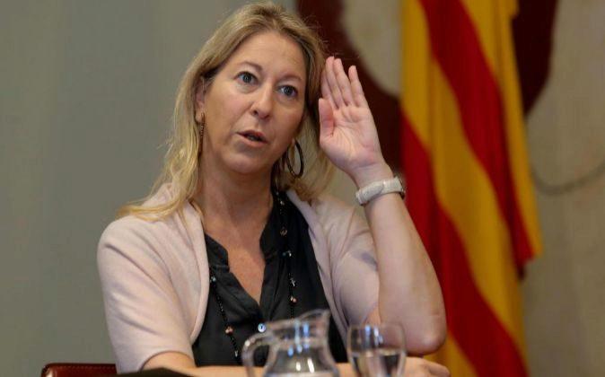 La consellera de la Presidencia y portavoz del Govern, Neus Munté,...