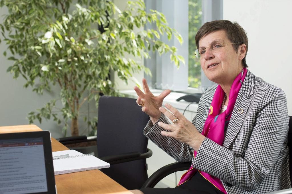 Elke Konig, durante una entrevista en la antigua sede del Mecanismo...