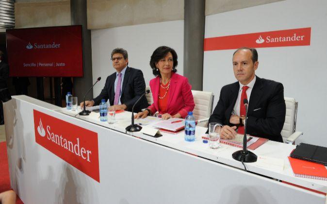 José Antonio Álvarez , consejero delegado de Santander; Ana Botín,...