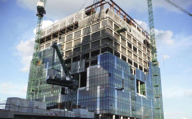 La nueva embajada de EEUU en Londres se encuentra en estos momentos en...