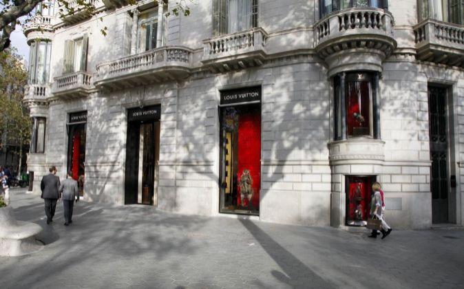 La tienda de Louis Vuitton en el Passeig de Gràcia.