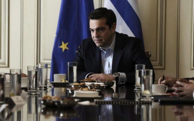 El primer ministro de Grecia, Alexis Tsipras, asiste a un encuentro el pasado mes de febrero.