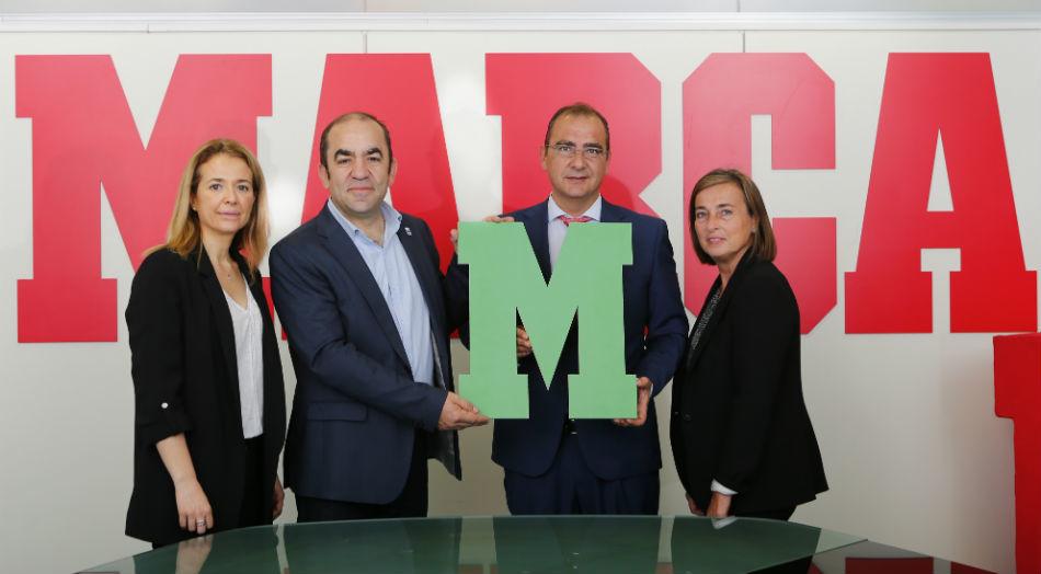 Gema Monjas, directora de Marketing de MARCA, Juan Carlos del Olmo,...