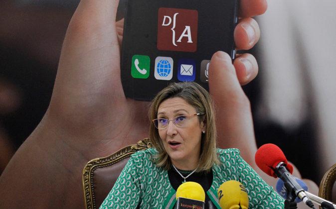 Sonia Gumpert, decana del Colegio de Abogados de Madrid, durante la...