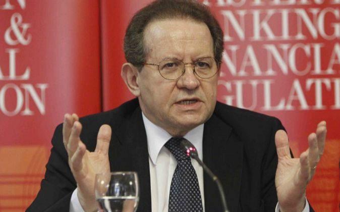 Vitor Constancio, Vicepresidente del Banco Central Europeo, en una...