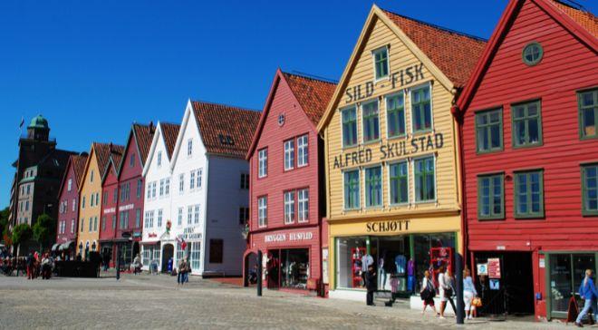 Imagen del centro histórico de Bergen (Noruega), que ha instalado un...