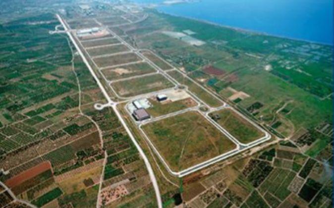 Vista aérea de Parc Sagunt, junto al Puerto de Sagunto.