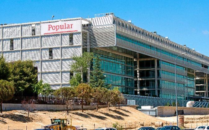 Banco Popular preve la trasladarse a su nueva sede, en la Autovia A2...