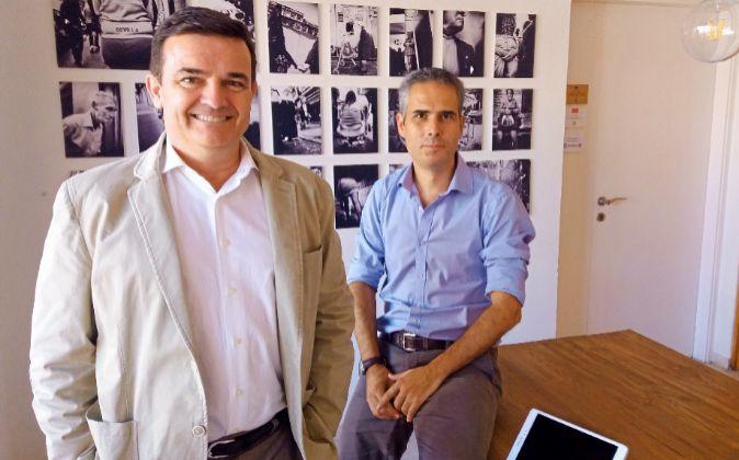 Álvaro Muñoz de las Casas y Manuel Villalón, dos de los artífices...