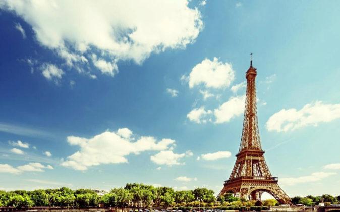 La torre Eiffel, en París.