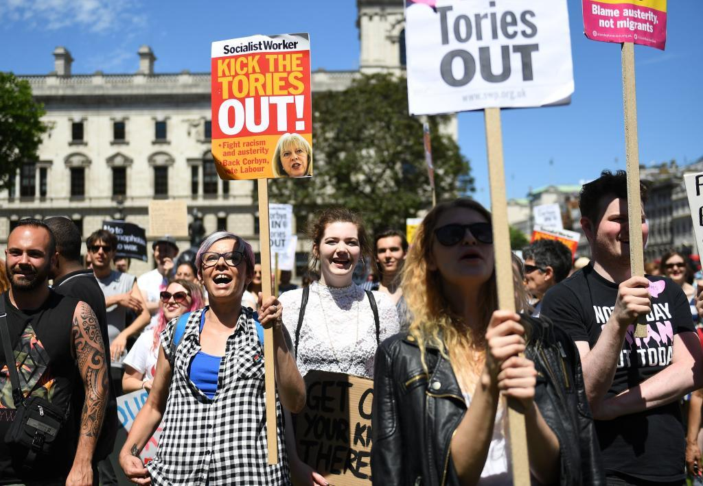 Manifestaciones de apoyo a los laboristas de Jeremy Corbyn