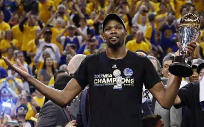 Kevin Durant, MVP de las finales.