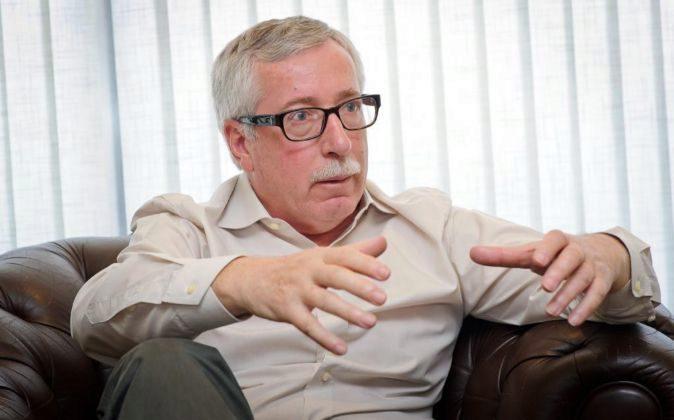 Ignacio Fernández Toxo, secretario general de CCOO, en la entrevista...
