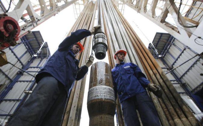 Imagen de instalaciones petrolíferas en Rusia