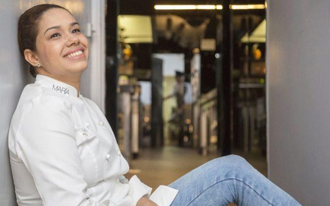 La chef dominicana María Marte es la única cocinera de Madrid con...