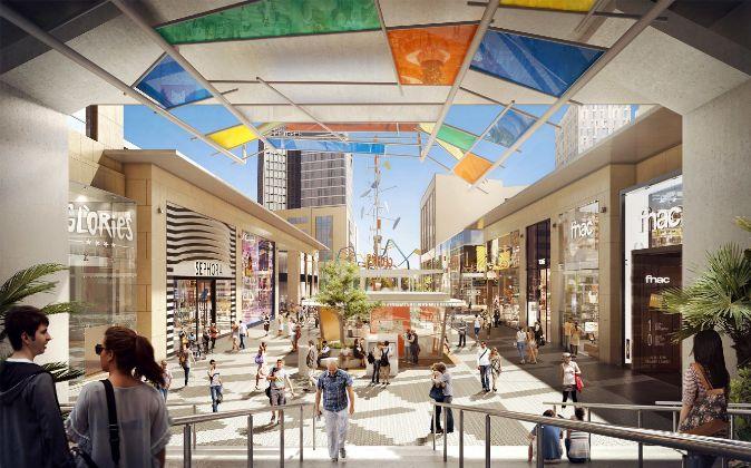 El centro comercial Glòries, en Barcelona, propiedad de Unibail...