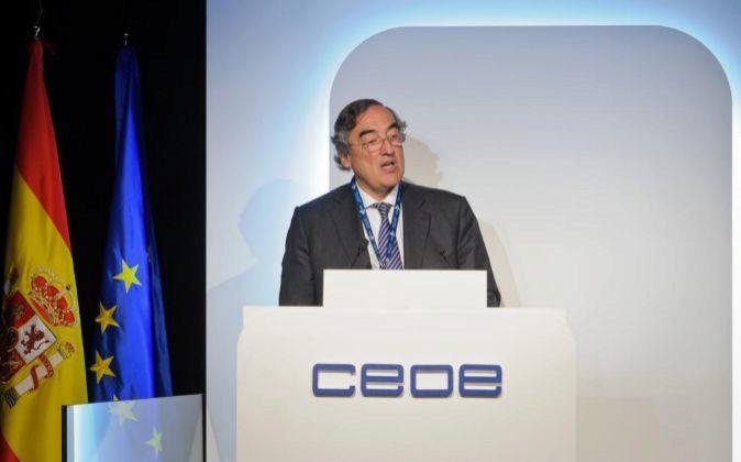 Juan Rosell, presidente de la CEOE en la Asamblea General de la...