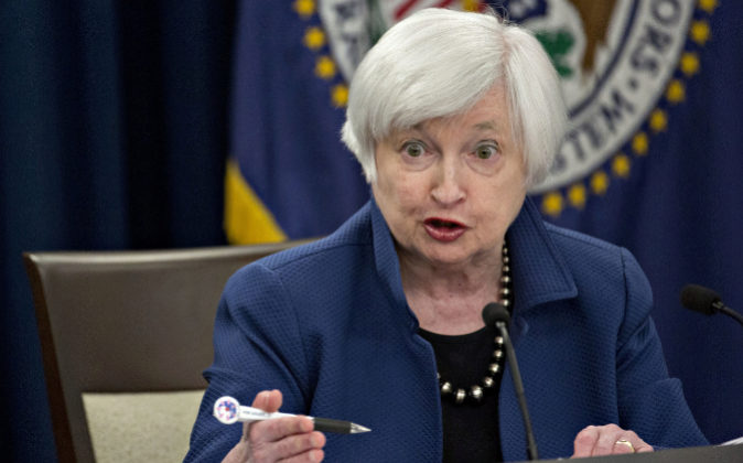 La presidenta de la Reserva Federal de Estados Unidos.