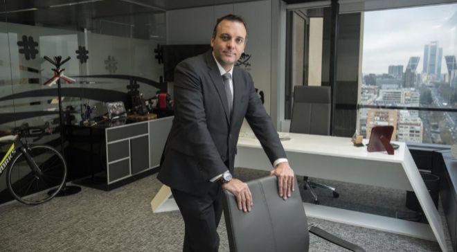 Yago Arbeloa, fundador de Hello Media Group, en su despacho de Torre...