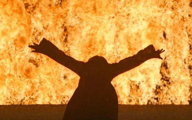 La instalación 'Mujer fuego' (2005).