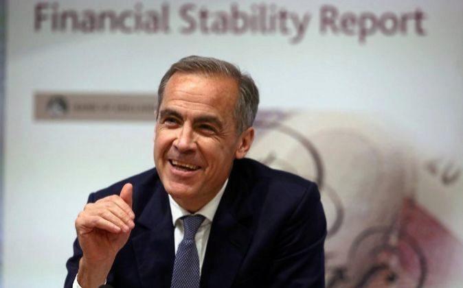 Mark Carney, es el gobernador del Banco de Inglaterra.