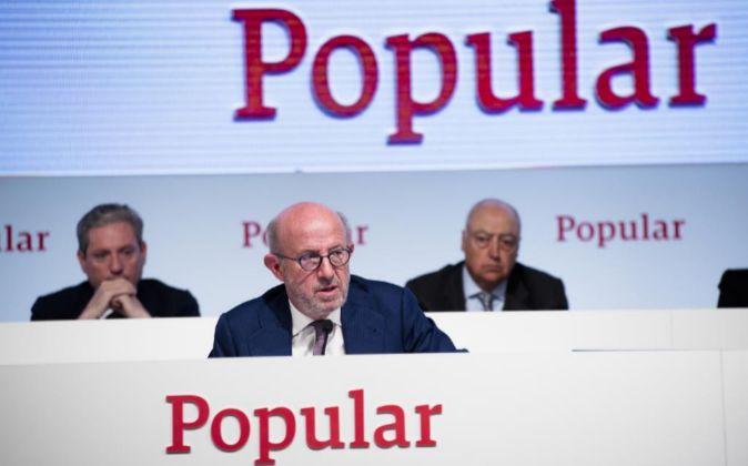 Emilio Saracho es el expresidente de Popular.
