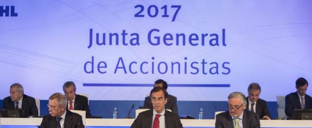 JUNTA GENERAL DE ACCIONISTAS DE OHL 2017. EN LA IMAGEN, JUAN VILLAR...