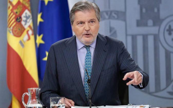 El portavoz del Gobierno, Íñigo Méndez de Vigo, durante la rueda de...