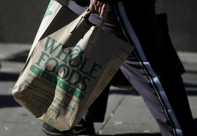 Una imagen de una bolsa de Whole Foods.