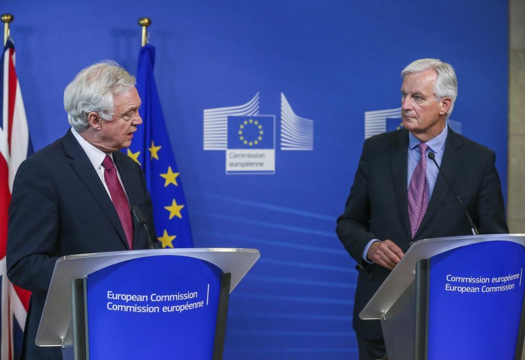 El secretario de Estado británico para la Salida de la UE, David...