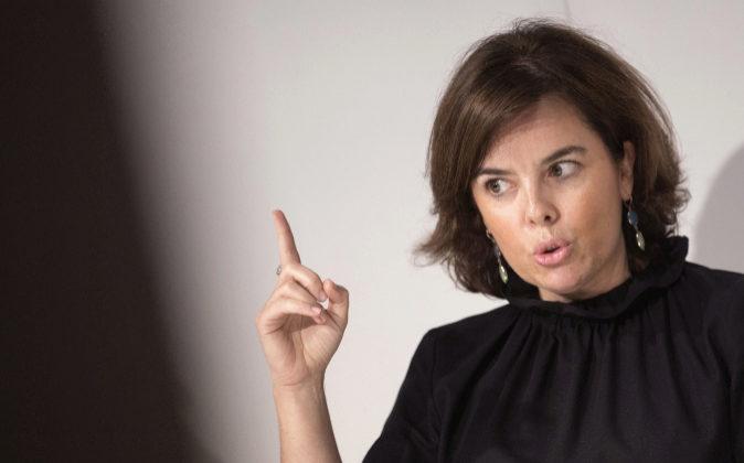 Soraya Sáenz de Santamaría, vicepresidenta del Gobierno, ministra de...