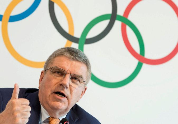 El presidente del Comité Olímpico Internacional (COI), el alemán...